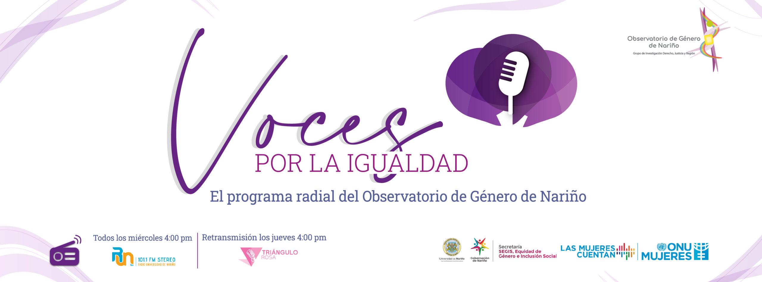 Programa Radial Observatorio de Género de Nariño
